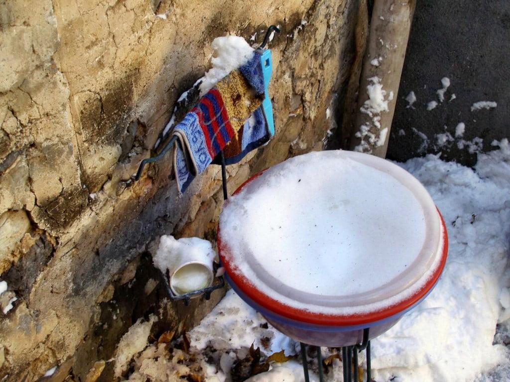 Waschmöglichkeit im Dorf
