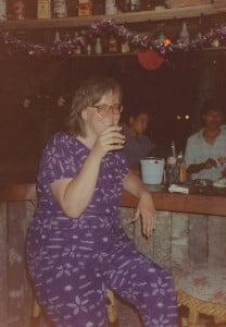 Ich am Heilig Abend an der Strandbar in Krabi 1991