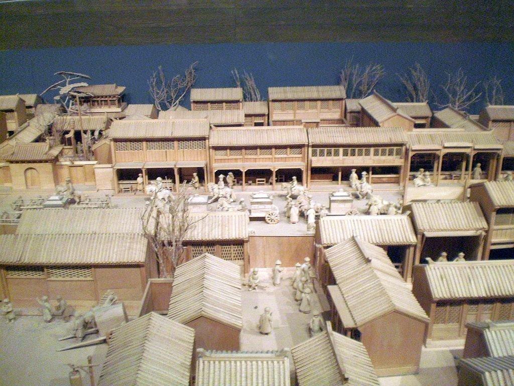 Geschäftsstraße im alten China