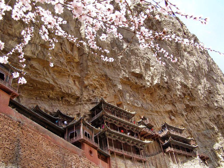 Hängendes Kloster im Frühling