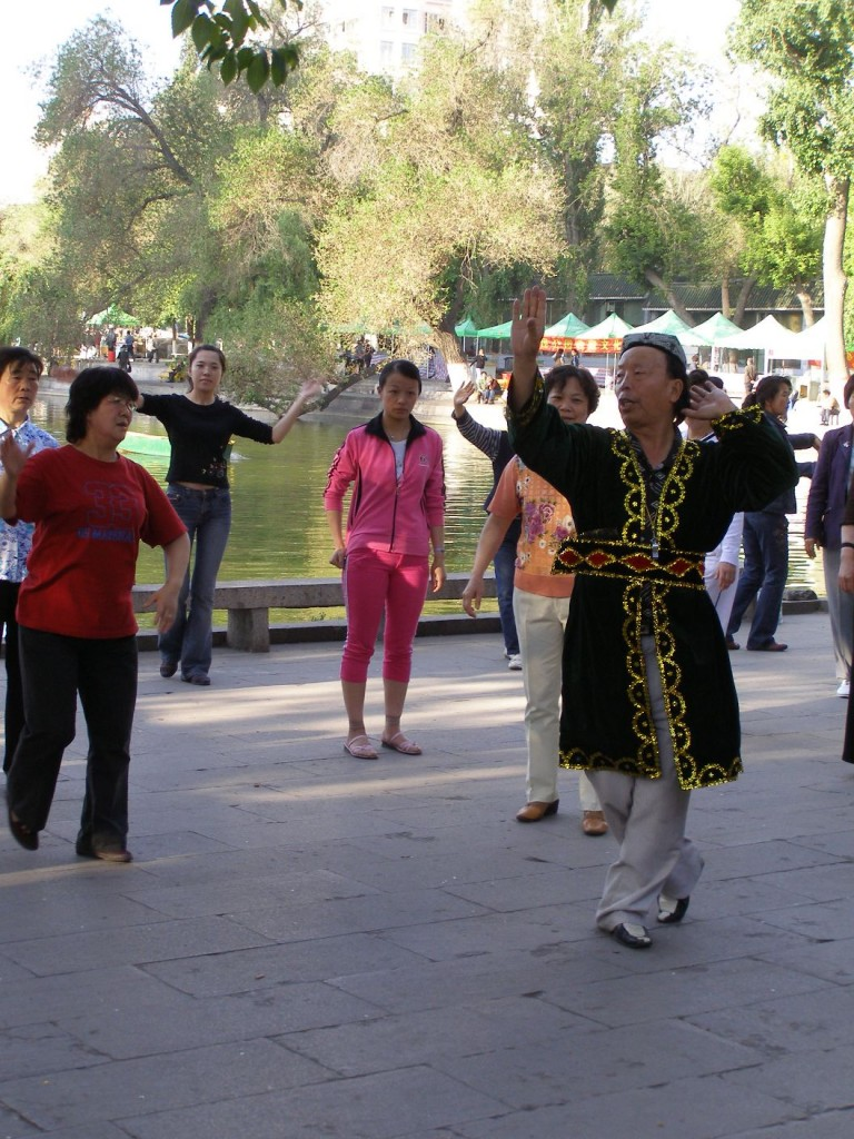 People doing their Taiqi at People's Park