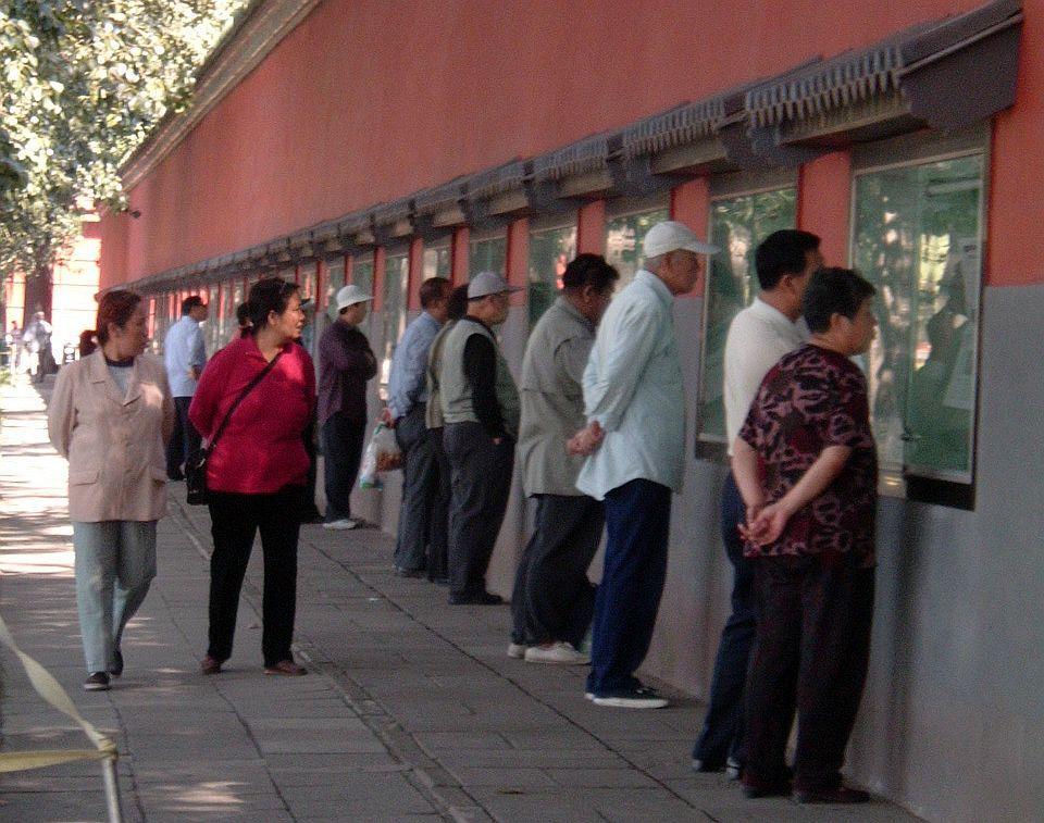 In China sind als Informationsquelle immer noch die sog. Wandzeitungen populär