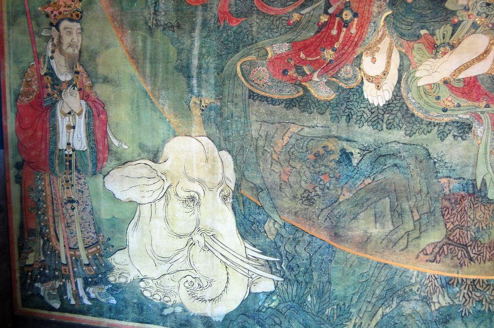 Weißer Elefant im Fahai-Tempel in Peking