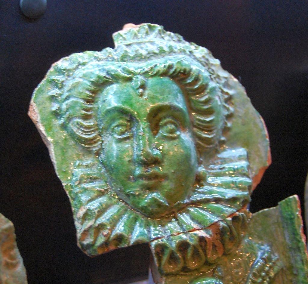Kachel grüne Frau