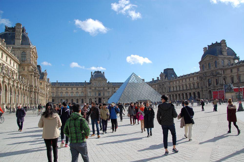 Die Eingangspyramide des Louvre