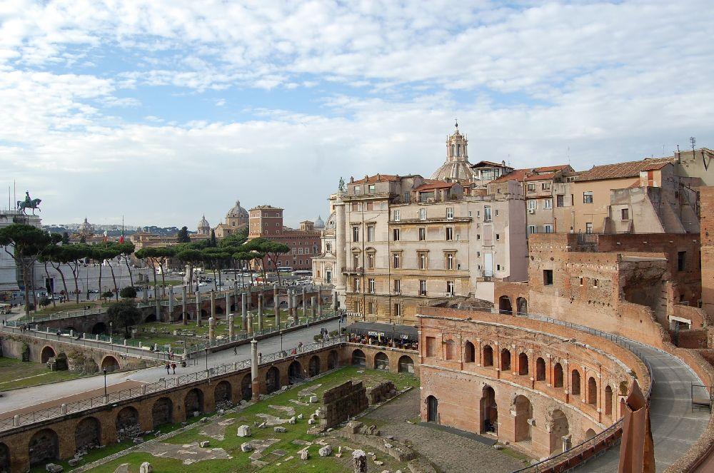 Trajansforum mit Blick Richtund Trajanssäule