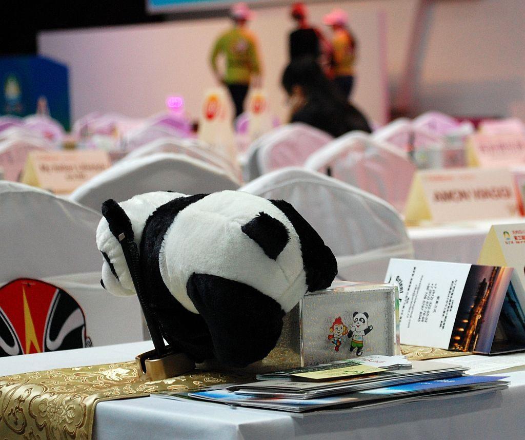 Panda als Maskottchen auf der Konferenz - Chengdu 2016
