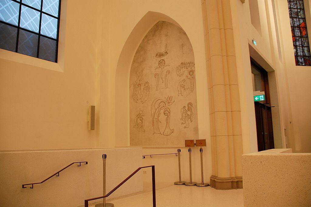 Bochum Musikforum alte Kirchendekoration