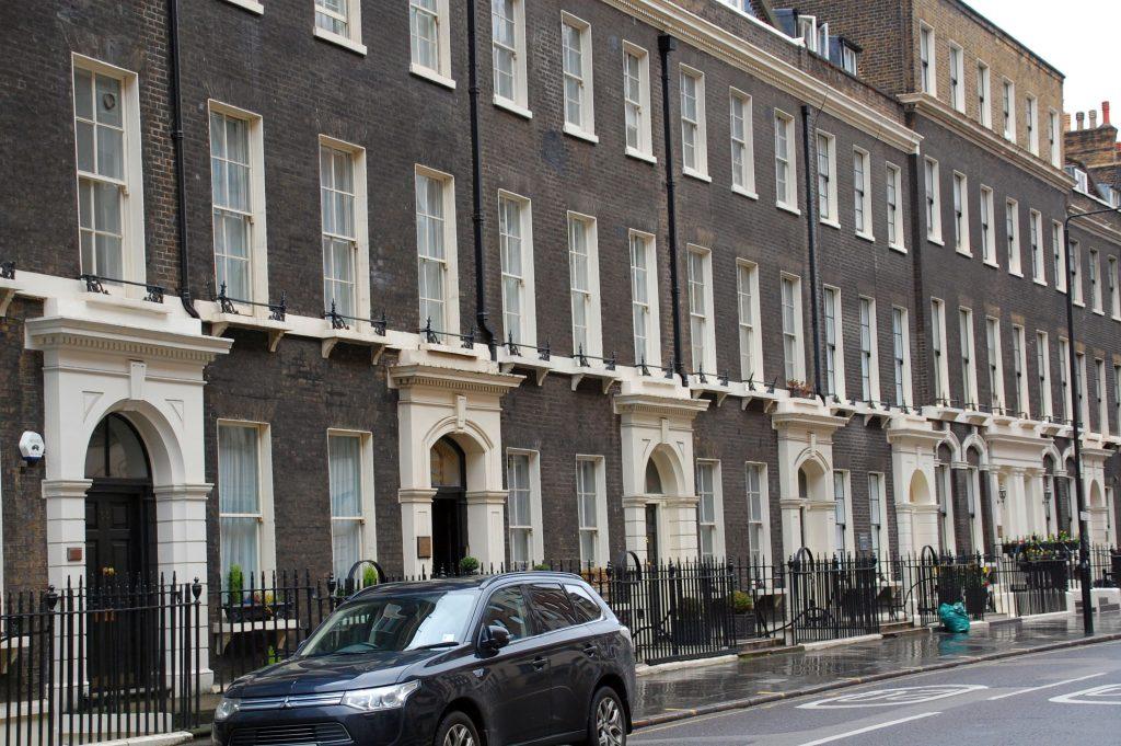Gower Street mit Ridgemount Hotel