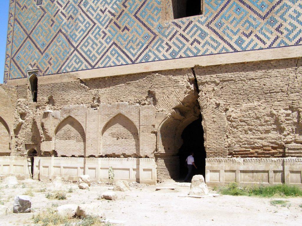 Samarkand Moschee Bibi Khanum Erdbebenschaden